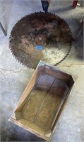 Large Saw Blade and Crate