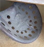 Vintage Metal Tractor Seat