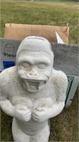 Ceramic Ape coin bank