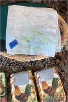 Wicker Basket of Towels