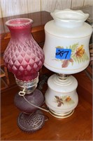 Electric oil lamp and Glass lamp