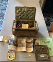 Sewing basket and US Post Office Box Door