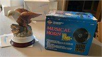 Musical Horn and American Bald Eagle Statue
