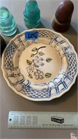 Floral Plate with 4 Insulators