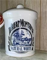 Wheat Montana Flour Canister