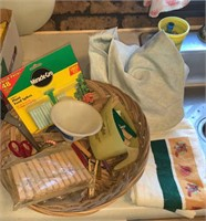 Basket of new dish towels