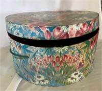 Candle lamp shades and hat box.