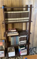 Bookcase, Books, and Stand