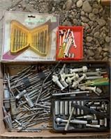 Drill Bits, and socket set