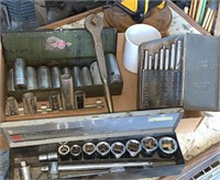 Socket sets and drill bits