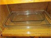 Clear Glass Rectangular Baking Dishes