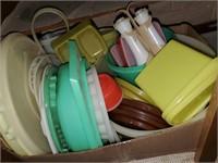 Misc. Box Of Tupperware