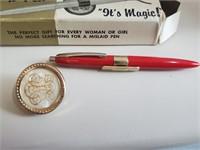 Vintage Pin & Pen W/ Original Box