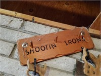 Shootin' Iron Wood Sign
