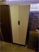 White Metal Storage Cabinet