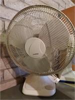 Table Top Lasko Fan, Silver Colored
