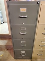 4 Drawer Gray Metal Legal Size Filing Cabinet