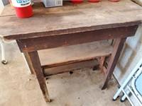 Vintage Wood Work Table