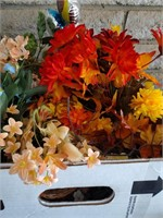 Box Of Artificial Flowers #1