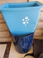 Small Blue Plastic Trash Cans