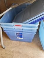 4pc Blue Plastic Storage W/ Lids