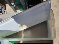 Large Clear Plastic Storage W/ Lid