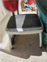 Vintage Metal Step Stool