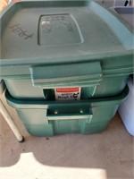 Green Plastic Storage Tubs