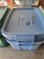 Blue Plastic Storage Tubs