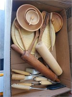 Wood Serving Items, Rolling Pin, Etc.