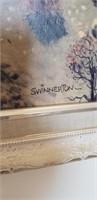 Framed Salton Sea Art, J. Swinnerton- Signed