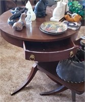 Round End Table W/ Drawer