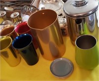 Colored Metal Cups, Pitcher, Other