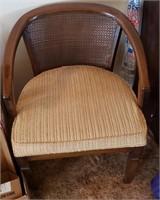 Wood Chair Beige Cushion
