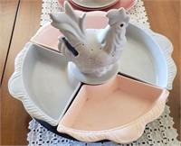 Lazy Susan Rooster Split Dish