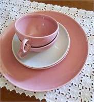 Pink & White Plates, Tea Cups