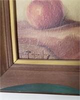 2pc Framed Fruit Art- Signed