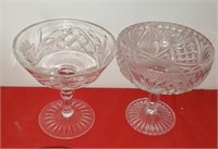 Clear Glass Stemed Glasses
