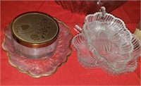 Small Clear Glass Leaf Nut Dish, Other