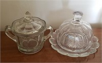 Covered Glass Cheese Dish, Candy Dish