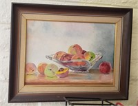Framed Fruit In Bowl Art