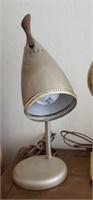 Silver Tone Vintage Desk Lamp