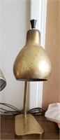 Brass Tone Vintage Desk Lamp