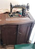 Vintage Brunswick Sewing Machine W/ Table