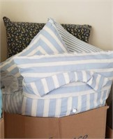 And Even More Pillows Blue Striped