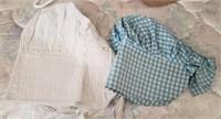 Bonnets, Teal Checkered & White