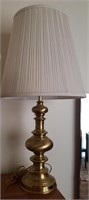 Different Brass Tone Lamp W/ White Lampshade