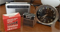 Small Radios, Clock, Telephone Amplifier