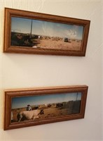 2 Pc Framed Cow Photographs