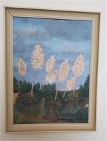 Framed Desert Plant Art